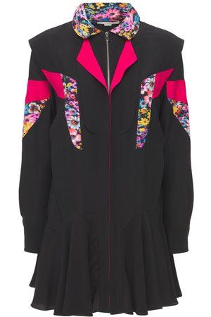 Stella McCartney Naiset Minimekot - Hooded Silk Twill Mini Dress