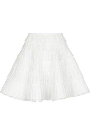 Alaïa Pleated lace miniskirt