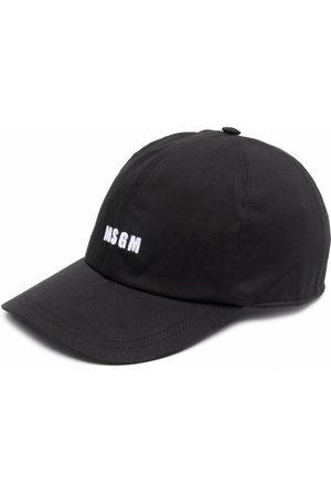 Msgm Miehet Hatut - Logo-print cap
