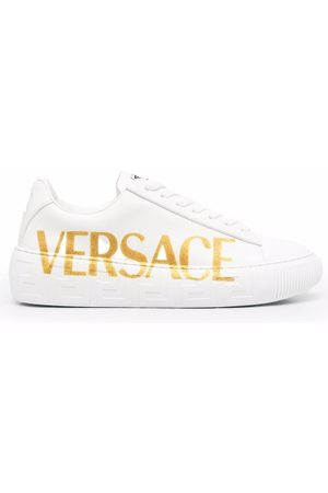 Versace Naiset Loaferit - Logo-print lace-up sneakers