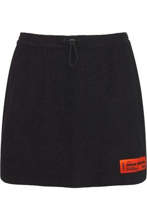 Heron Preston Cotton Terry Mini Skirt
