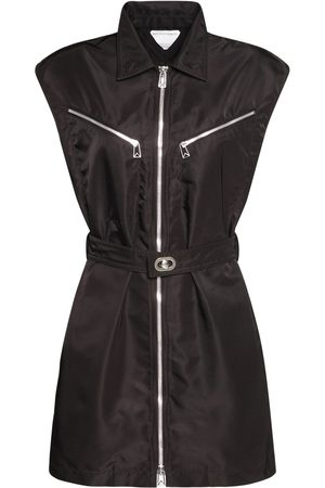 Bottega Veneta Sleeveless Stretch Nylon Bomber Dress