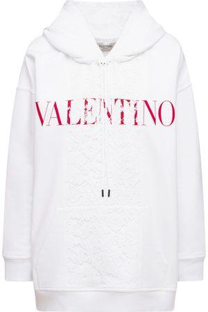 VALENTINO Logo Cotton Jersey Hoodie