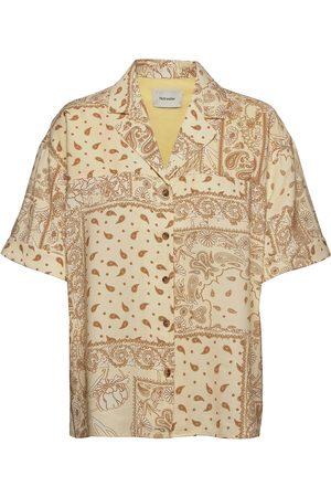 Holzweiler Edgar Print Shirt Lyhythihainen Paita Beige