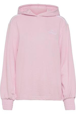 adidas Smocked Cuff Hoodie W Svetari Collegepaita Vaaleanpunainen