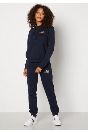 GANT Naiset Collegehousut - Archive Shield Sweat Pant 433 Evening Blue XXL