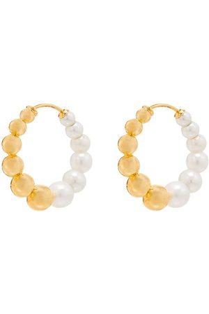 YVONNE LÉON Naiset Korvarenkaat - 9kt yellow pearl hoops