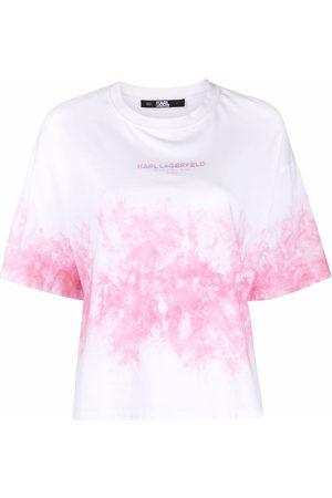 Karl Lagerfeld Naiset T-paidat - Tie-dye cotton T-shirt