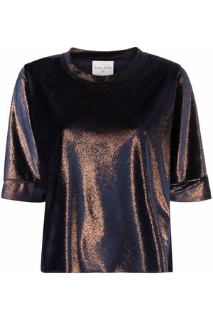FORTE FORTE Naiset T-paidat - Metallic sheen T-shirt