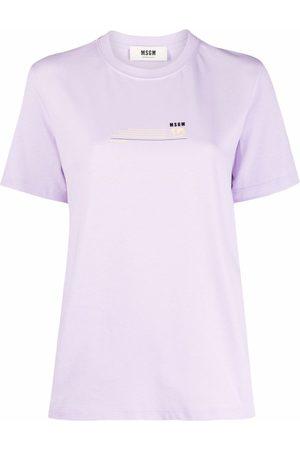Msgm Naiset T-paidat - Logo-print cotton T-shirt