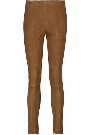 Polo Ralph Lauren High-rise suede skinny pants