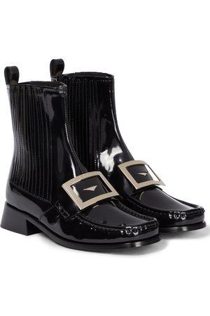 Roger Vivier Preppy Viv' patent leather Chelsea boots