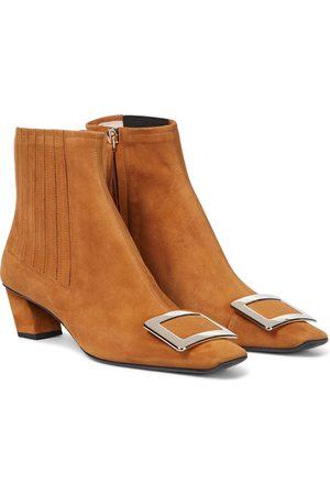 Roger Vivier Belle Vivier suede Chelsea boots