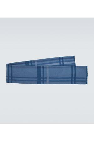 Loro Piana Checked virgin wool scarf