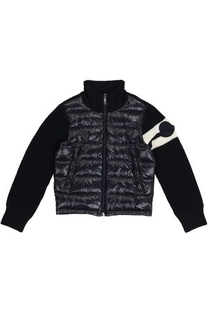 Moncler Quilted down and wool-blend cardigan