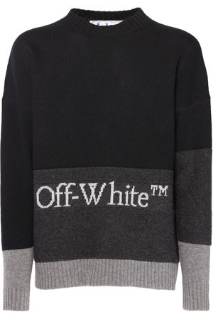 OFF-WHITE Color Block Wool Knit Sweater