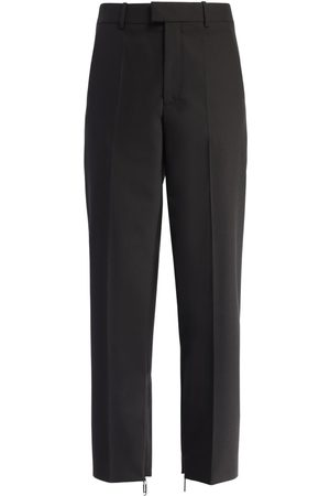 OFF-WHITE Paperclip Zip Tailored Wool Blend Pants