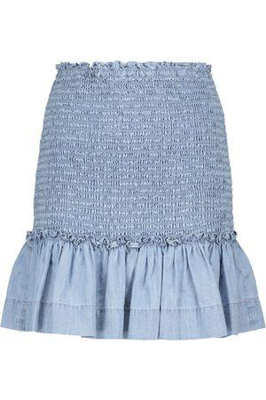 VERONICA BEARD Aloya chambray miniskirt