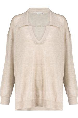 Stella McCartney Naiset Pikee - Knitted wool polo