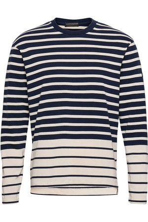 Scotch&Soda Breton Longsleeve Tee In Organic Cotton T-shirts Long-sleeved Sininen