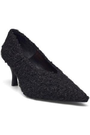Flattered Fabienne Black Pile Shoes Heels Pumps Classic
