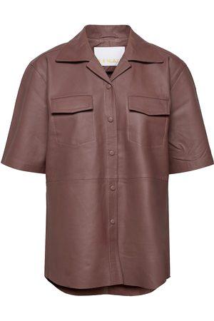 REMAIN Birger Christensen Jocy Shirt Leather Lyhythihainen Paita