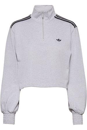 adidas Smocked Cuff Cropped Half-Zip Sweatshirt W Svetari Collegepaita Harmaa