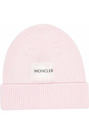 Moncler Pipot - Ribbed logo-patch beanie