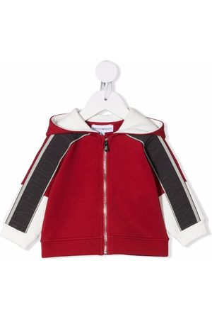 Emporio Armani Zip-up hooded track jacket