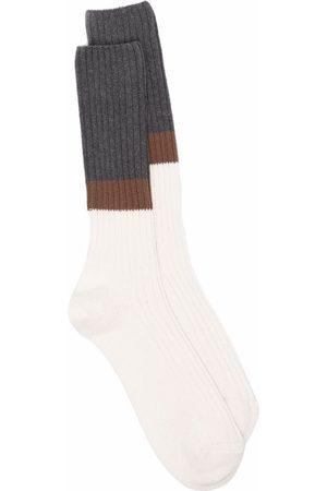 ELEVENTY Colour-block ribbed socks