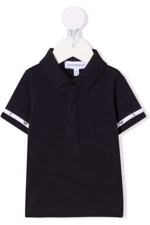 Emporio Armani Pikee - Logo-tape cotton polo shirt