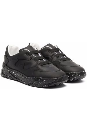 Emporio Armani Kids Low-top leather sneakers