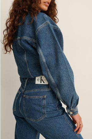 Calvin Klein Naiset Korkeavyötäröiset - High Rise Straight Ankle Jeans - Blue