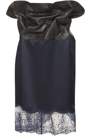 Y / PROJECT Satin & Lace Mini Skirt W/wire