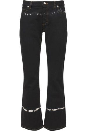 Marni Naiset Leveälahkeiset - Tie Dye Cotton Denim Flared Pants