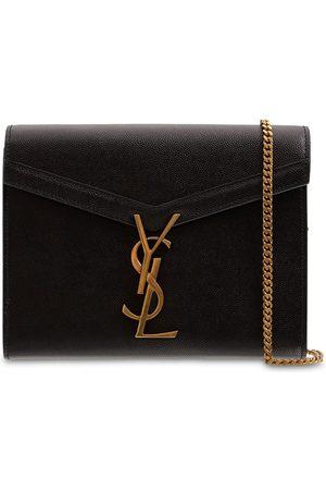 Saint Laurent Cassandra Leather Chain Wallet Bag