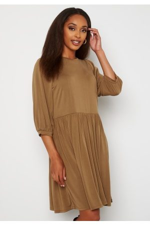 Object Jannie 3/4 Dress Sepia M