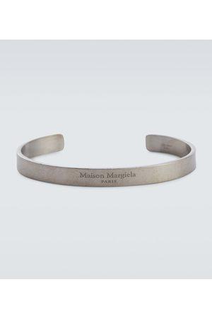 Maison Margiela Logo sterling silver cuff bracelet