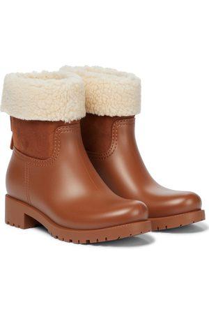 Chloé Naiset Nilkkurit - Jannet shearling-trimmed rubber boots