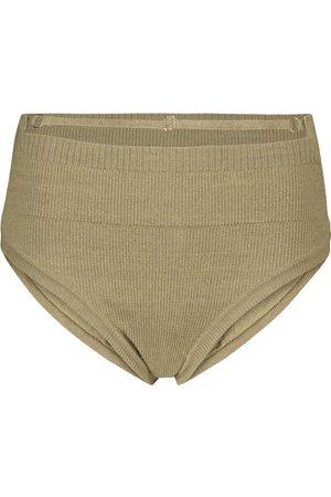 Jacquemus La Culotte Picchu stretch linen-blend briefs