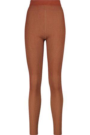 Jacquemus Le Legging Arancia knit leggings