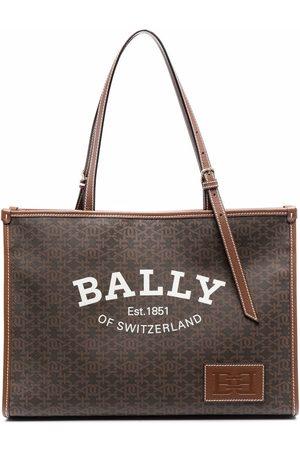 Bally Naiset Ostoskassit - Logo-print tote bag