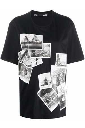 Love Moschino Naiset T-paidat - Paris photography T-shirt