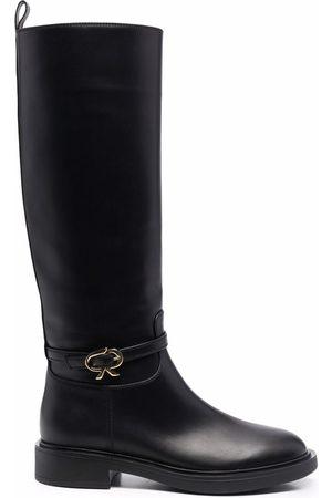 Gianvito Rossi Naiset Ylipolvensaappaat - Ribbon Cavalier knee-high boots