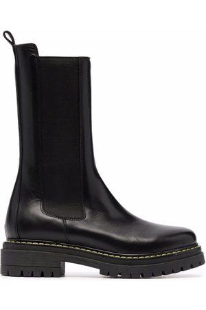 Pinko Naiset Nilkkurit - Chunky leather ankle boots