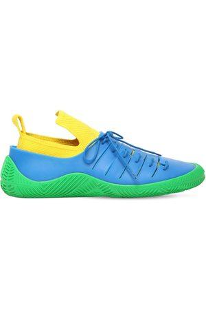 Bottega Veneta Tech Knit & Rubber Low Sneakers