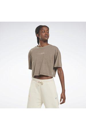 Reebok Naiset T-paidat - Les Mills® Natural Dye Cropped T-Shirt