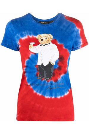 Polo Ralph Lauren Naiset Pikee - Polo Bear-motif tie-dye cotton T-shirt