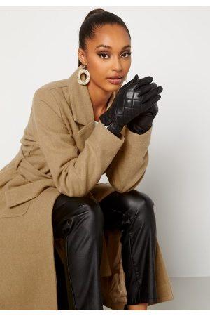 BUBBLEROOM Naiset Käsineet - Velma quilted leather gloves Black S