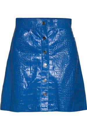REMAIN Birger Christensen Carmela Short Skirt Leather Lyhyt Hame